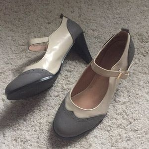 Chase + Chloe Vintage two-tone Mary Janes